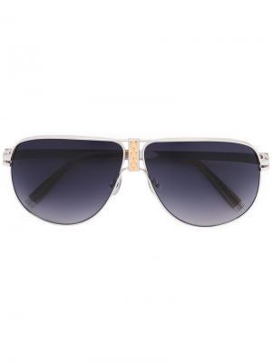Солнцезащитные очки DeCode: Los Angeles H8 Sama Eyewear. Цвет: металлический