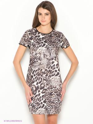 Платье Ada Gatti. Цвет: черный, бежевый, молочный