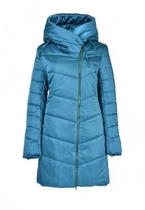 Куртка утепленная Grafinia. Цвет: бирюзовый
