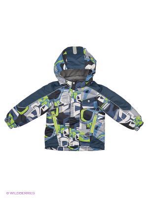 Куртка Oldos. Цвет: синий, зеленый