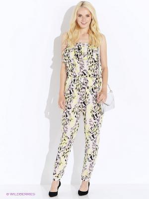 Комбинезон Vero moda. Цвет: бледно-розовый, желтый, серый