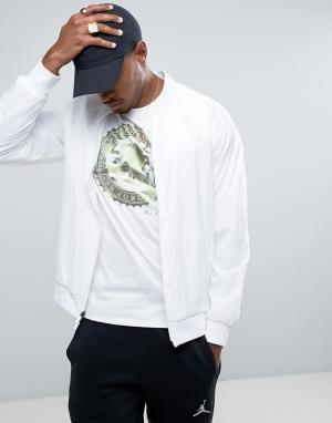 Jordan Белая облегающая куртка Nike Wings 843100-100. Цвет: белый