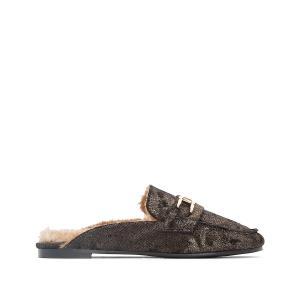 Туфли без задника на меху Dora COOLWAY. Цвет: золотистый