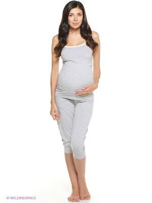 Пижама Мамин Дом. Цвет: серый, салатовый