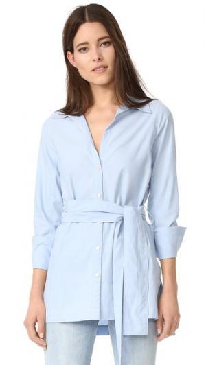 Рубашка с поясом Tillman Brochu Walker. Цвет: оксфордский синий