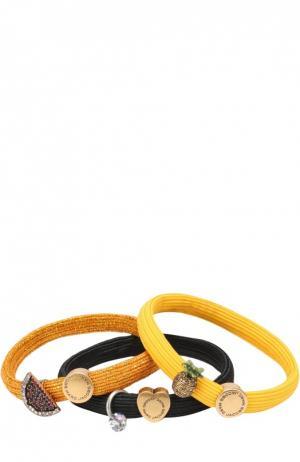 Набор резинок для волос Marc Jacobs. Цвет: желтый