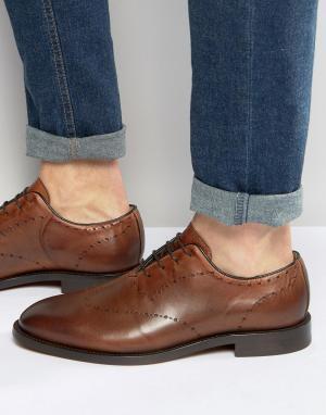 Hudson London Кожаные туфли Twain. Цвет: рыжий