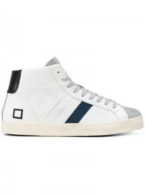 Хайтопы со шнуровкой D.A.T.E.. Цвет: белый