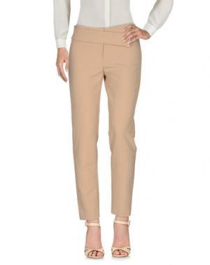 Повседневные брюки X'S MILANO. Цвет: песочный