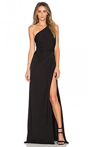 Макси платье с открытым плечом JILL STUART. Цвет: черный