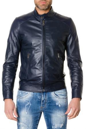 Куртка AD MILANO. Цвет: синий