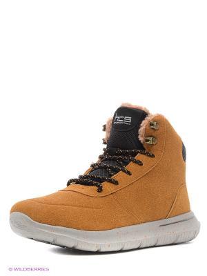 Ботинки HCS. Цвет: коричневый