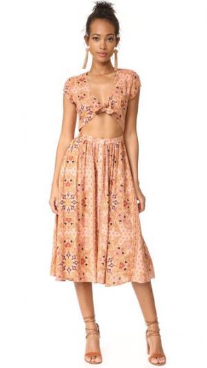 Платье Park Slope Knot Sisters. Цвет: розовая мандала
