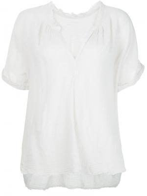 Блузка c V-образным вырезом Raquel Allegra. Цвет: белый