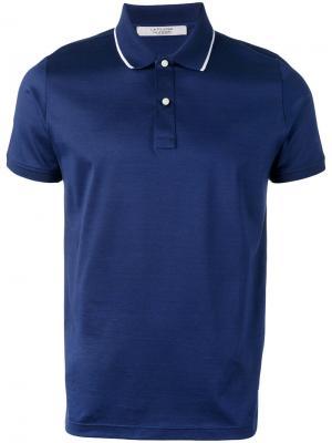 Рубашка-поло с контрастной окантовкой La Fileria For Daniello D'aniello. Цвет: синий