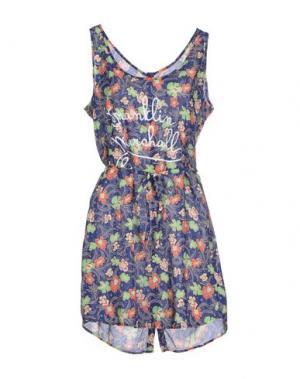 Короткое платье FRANKLIN & MARSHALL. Цвет: синий