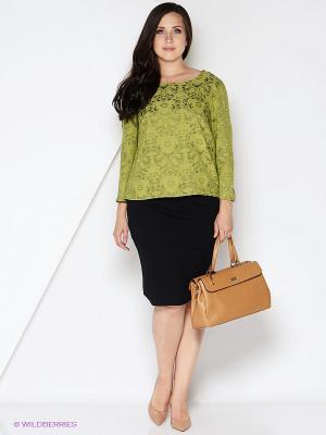 Блузка КАЛIНКА. Цвет: оливковый