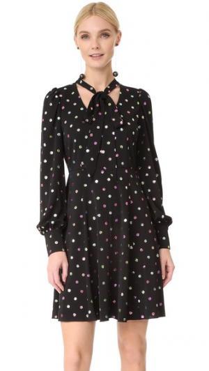 Платье с завязками и длинными рукавами Marc Jacobs. Цвет: черный мульти