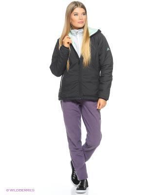 Куртка W Alploft J Adidas. Цвет: черный, лазурный