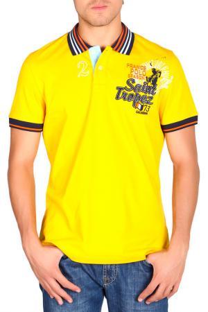 Футболка-поло Galvanni. Цвет: yellow
