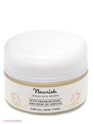 Восстанавливающий крем для лица на основе арганового масла Argan skin renew, 50 мл Nourish. Цвет: прозрачный