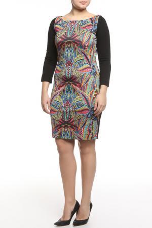 Платье CLASS ROBERTO CAVALLI. Цвет: красный, синий