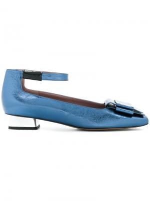 Балетки с квадратным носком Rayne. Цвет: синий