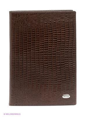 Обложка на паспорт Petek. Цвет: коричневый