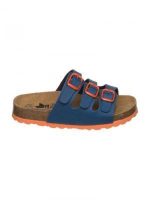 Пантолеты Lico. Цвет: темно-синий, оранжевый