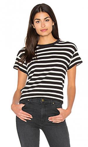 Прямая футболка с круглым вырезом The Great. Цвет: black & white