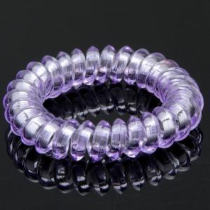 Резинка-Пружинка для волос, арт. РПВ-043 Бусики-Колечки. Цвет: сиреневый