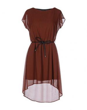 Короткое платье HANITA. Цвет: какао