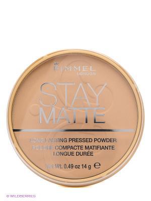 Пудра Stay Matte Re-pack (silky beige), тон 005. Rimmel. Цвет: бежевый