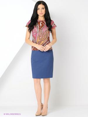 Блузка BYGAKOFF. Цвет: розовый, коричневый