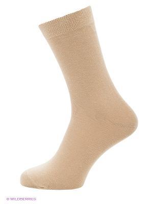 Носки, комплект 5 пар Uomo Fiero. Цвет: бежевый
