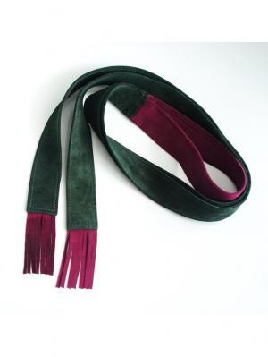 Пояс-шарф Xenia Dukova. Цвет: зеленый, фиолетовый