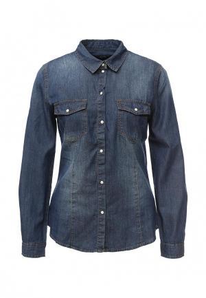 Рубашка джинсовая Mim. Цвет: синий