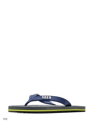 Шлепанцы Effa. Цвет: темно-синий, серый