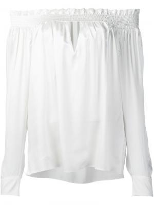 Блузка с рюшами Alexandre Vauthier. Цвет: белый