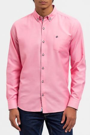 Рубашка DIBYE. Цвет: розовый