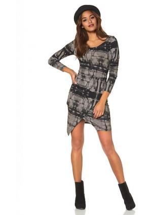 Платье AJC. Цвет: черный/экрю