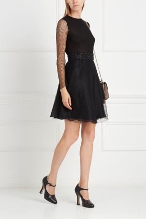 Полупрозрачное платье NATALIA GART. Цвет: черный