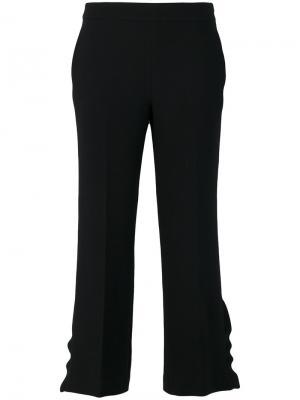 Укороченные брюки с оборками на манжетах  LAutre Chose L'Autre. Цвет: чёрный