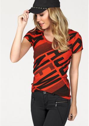 Футболка AJC. Цвет: оранжевый/черный, серый/черный
