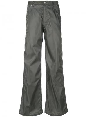 Широкие джинсы Eckhaus Latta. Цвет: серый