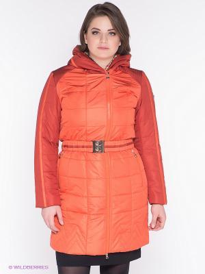 Пальто X'cluSIve. Цвет: оранжевый
