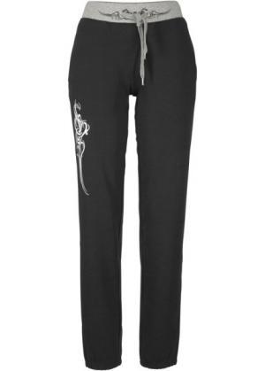 Трикотажные брюки (черный) bonprix. Цвет: черный