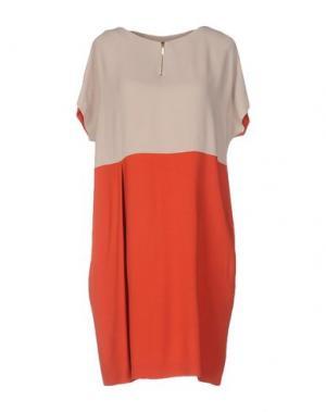 Короткое платье ANTONELLI. Цвет: кирпично-красный
