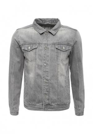 Куртка джинсовая Springfield. Цвет: серый