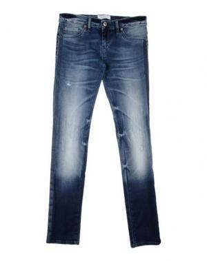 Джинсовые брюки JOHN GALLIANO KIDS. Цвет: синий